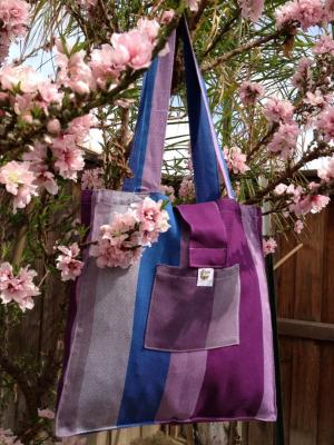 Mermaid Cove Diamond Weave Cotton Plum Wrap Bag