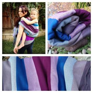 Mermaid Cove Plum Weft Cotton Baby Wrap