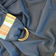 Smokey Blue Polyester Mesh Summer Ring Sling