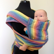 Sunrise Rainbow Heavenly Breeze Wrap Tai Baby Carrier Twill Weave Bamboo Blend Cream Weft