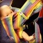 Sunrise Rainbow Drool Stop Lovey Bamboo Blend